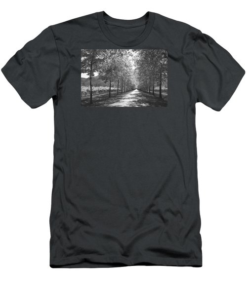Wine Country Napa Black And White Men's T-Shirt (Slim Fit) by Suzanne Gaff