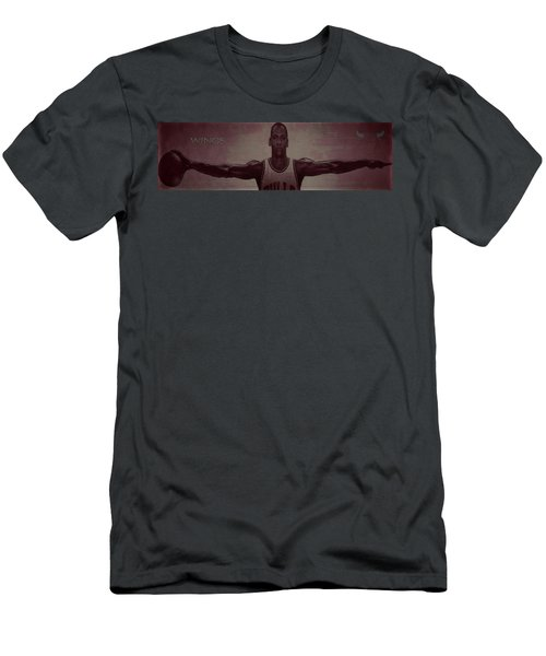 Men's T-Shirt (Slim Fit) featuring the mixed media Wings by Brian Reaves