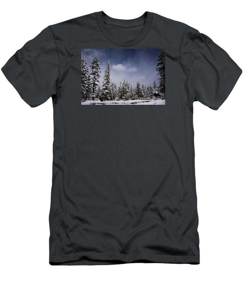 Men's T-Shirt (Slim Fit) featuring the photograph Winter Again by Janis Knight