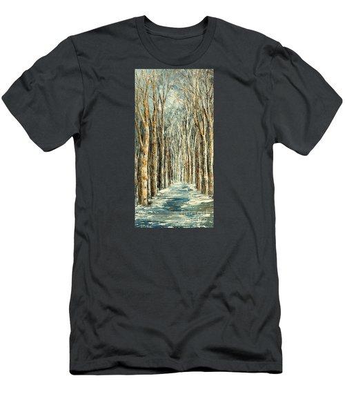 Winter Dreams Men's T-Shirt (Slim Fit) by Tatiana Iliina