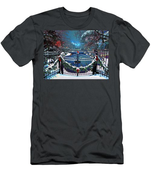 Winter Garden Men's T-Shirt (Slim Fit) by Michael Rucker