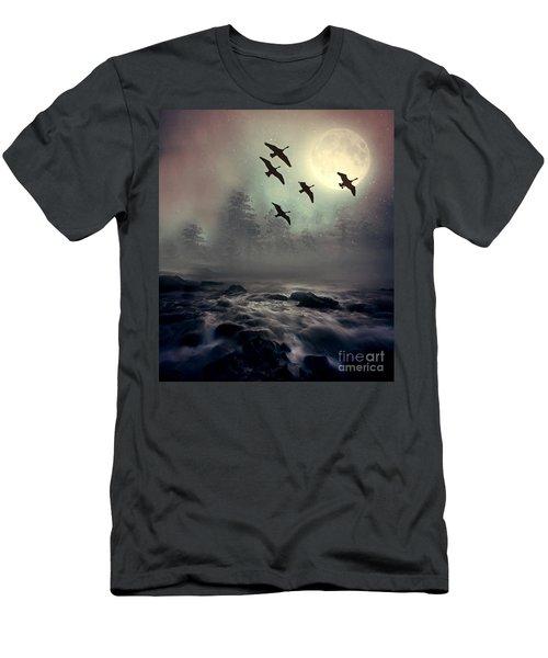 Winter Golden Hour Men's T-Shirt (Slim Fit) by Andrea Kollo
