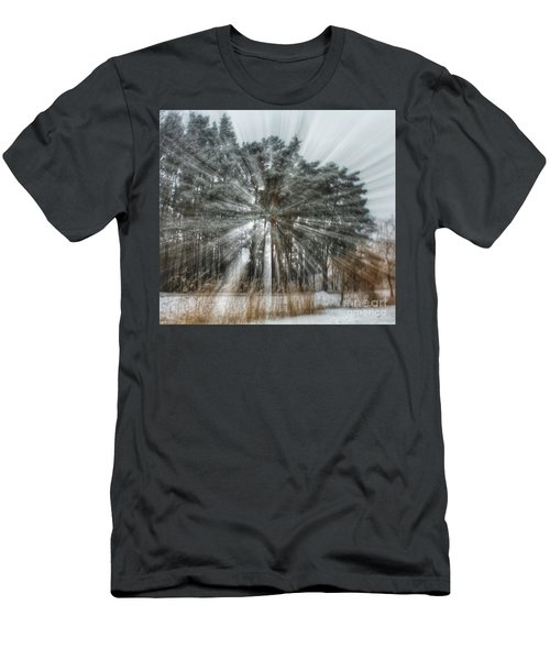 Winter Light In A Forest Men's T-Shirt (Athletic Fit)