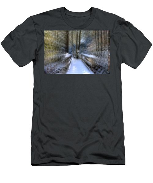 Winter Light On Bridge Men's T-Shirt (Athletic Fit)