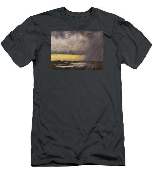 Winter Rain Men's T-Shirt (Slim Fit) by Jack Malloch