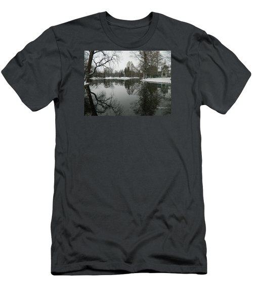 Winter Reflections 2 Men's T-Shirt (Slim Fit) by Kathy Barney