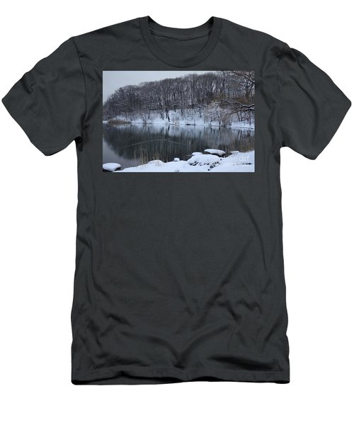 Men's T-Shirt (Slim Fit) featuring the photograph Winter Reflections by Dora Sofia Caputo Photographic Art and Design