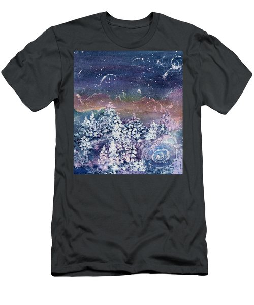Men's T-Shirt (Slim Fit) featuring the painting Winter Solstice  by Kathy Bassett