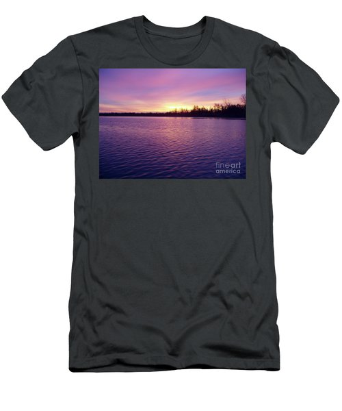 Winter Sunrise Men's T-Shirt (Slim Fit) by John Telfer