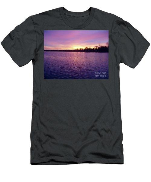 Winter Sunrise Men's T-Shirt (Athletic Fit)
