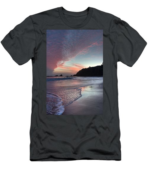 Winter Sunset Crescent Bay Men's T-Shirt (Athletic Fit)