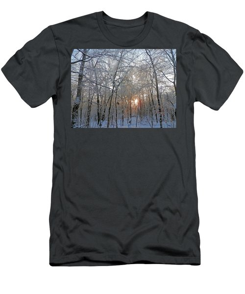Winter Sunset Men's T-Shirt (Slim Fit) by Pema Hou