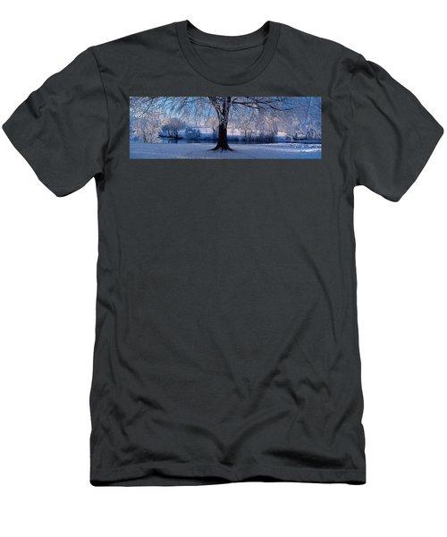 Winter Trees Perkshire Scotland Men's T-Shirt (Athletic Fit)