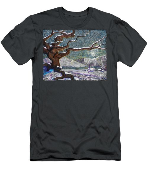 Winter's Day Men's T-Shirt (Athletic Fit)