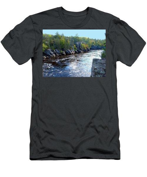 Wisconsin Shores 1 Men's T-Shirt (Slim Fit) by Will Borden