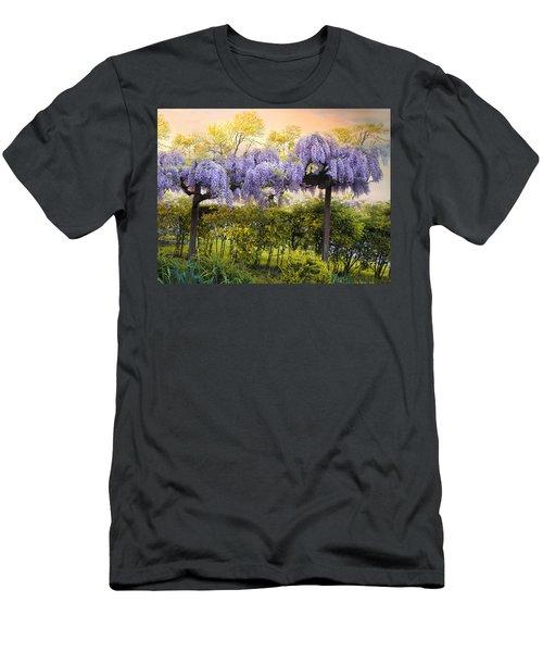 Wisteria Trellis 2 Men's T-Shirt (Athletic Fit)