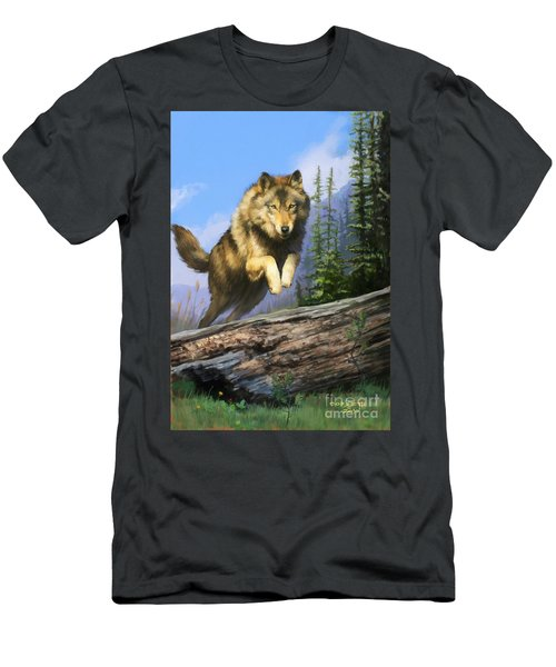 Wolf Run Men's T-Shirt (Athletic Fit)