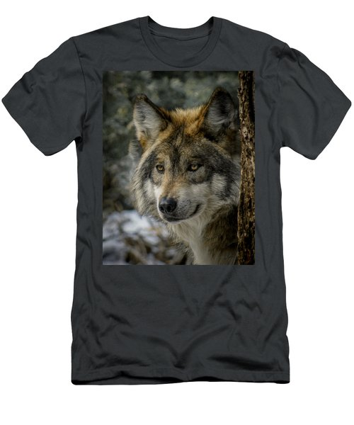 Wolf Upclose 2 Men's T-Shirt (Athletic Fit)