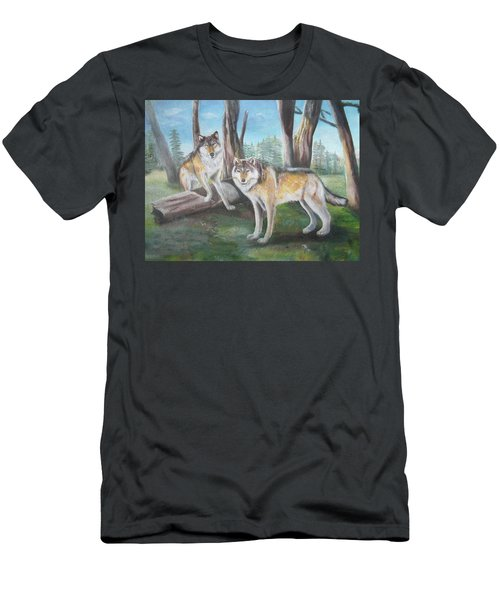 Wolves In The Forest Men's T-Shirt (Athletic Fit)