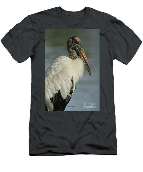 Wood Stork In Oil Men's T-Shirt (Athletic Fit)