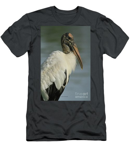 Wood Stork In Oil Men's T-Shirt (Athletic Fit)