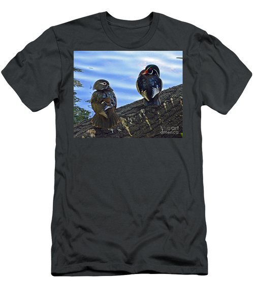 Men's T-Shirt (Slim Fit) featuring the photograph Wood You Love Me Forever by Robert Meanor
