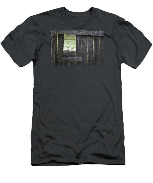 Wooden Blind Men's T-Shirt (Athletic Fit)
