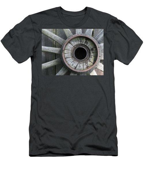 Wooden Wheel Men's T-Shirt (Athletic Fit)