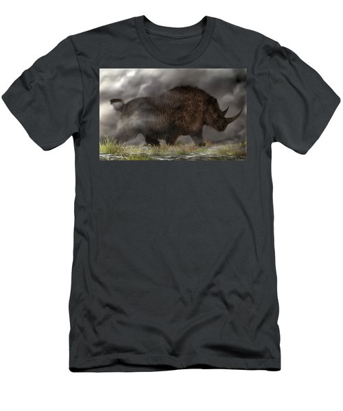 Woolly Rhinoceros Men's T-Shirt (Athletic Fit)