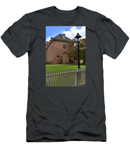 Men's T-Shirt (Slim Fit) featuring the photograph Wren Chapel At William And Mary by Jerry Gammon