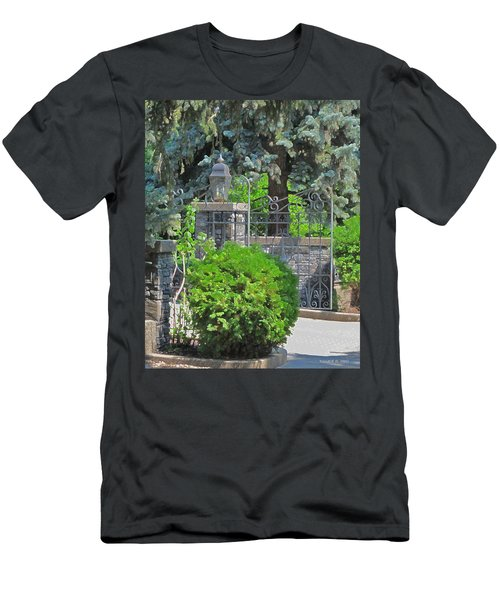 Wrought Iron Gate Men's T-Shirt (Athletic Fit)