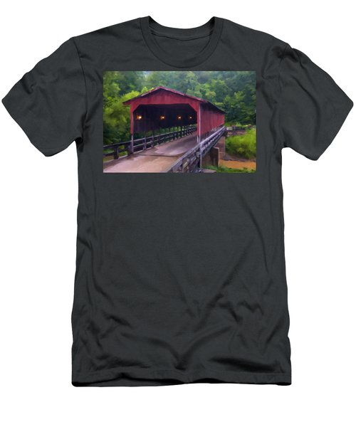 Wv Covered Bridge Men's T-Shirt (Athletic Fit)