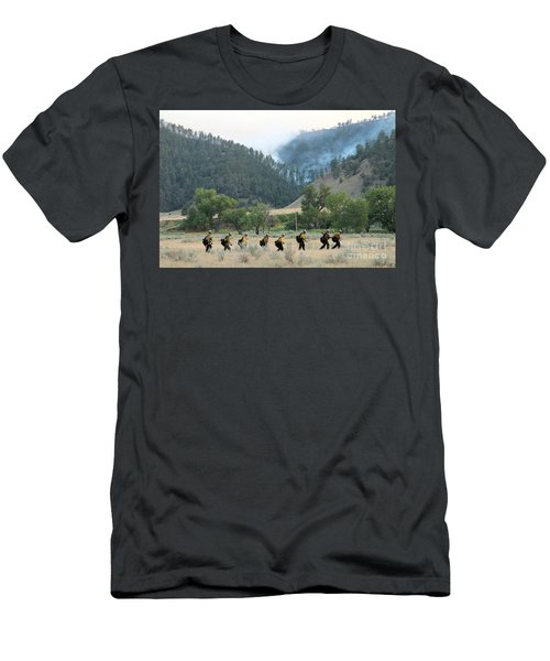 Wyoming Hot Shots Walk To Their Assignment Men's T-Shirt (Athletic Fit)