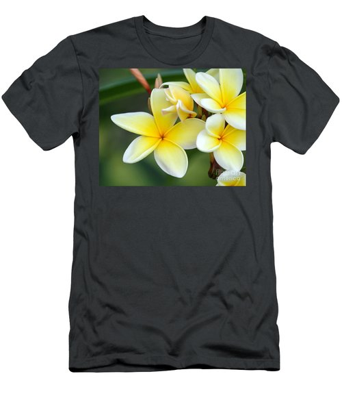Yellow Frangipani Flowers Men's T-Shirt (Athletic Fit)