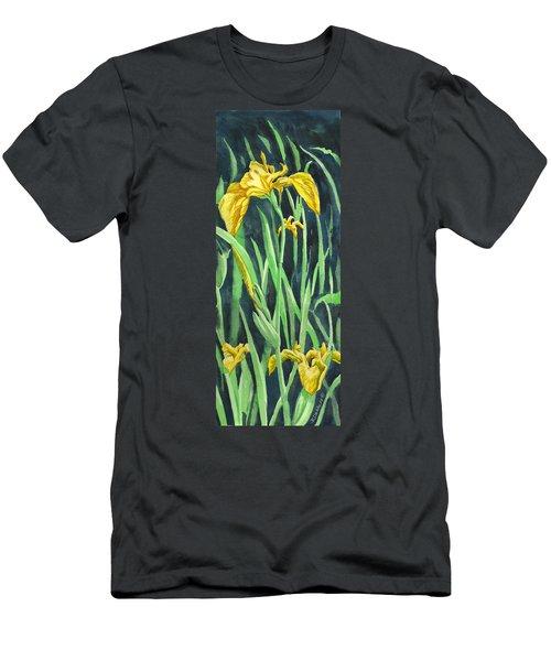 Yellow Iris Men's T-Shirt (Athletic Fit)