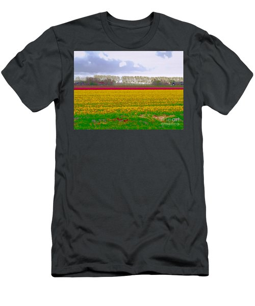 Men's T-Shirt (Athletic Fit) featuring the photograph Yellow Meadow by Luc Van de Steeg