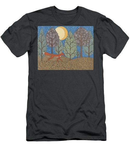 Yellow Moon Rising Men's T-Shirt (Athletic Fit)