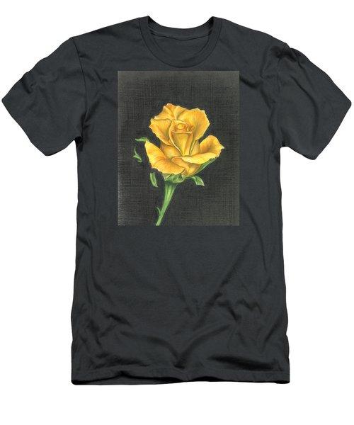Yellow Rose Men's T-Shirt (Slim Fit)