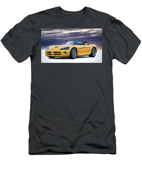 Yellow Viper Convertible Men's T-Shirt (Athletic Fit)