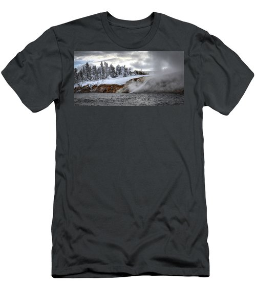 Yellowstone's Fire And Ice Men's T-Shirt (Athletic Fit)