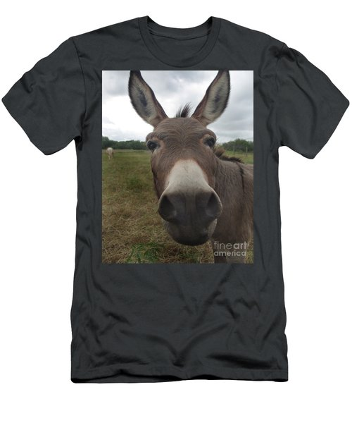 Men's T-Shirt (Slim Fit) featuring the photograph You Looking At My Woman by Peter Piatt