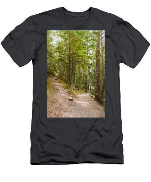 Men's T-Shirt (Athletic Fit) featuring the photograph You Take The High Road And I'll Take The Low Road by John M Bailey