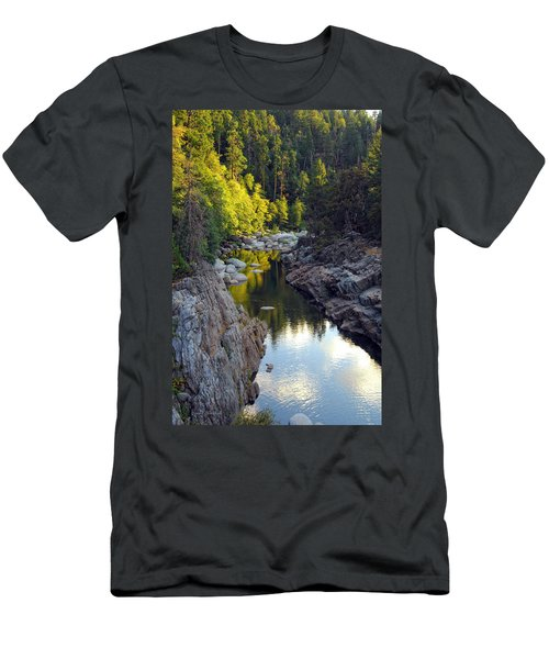 Yuba River Twilight Men's T-Shirt (Athletic Fit)