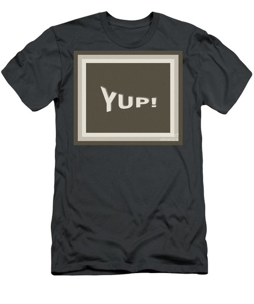 Yup Greyscale Men's T-Shirt (Athletic Fit)
