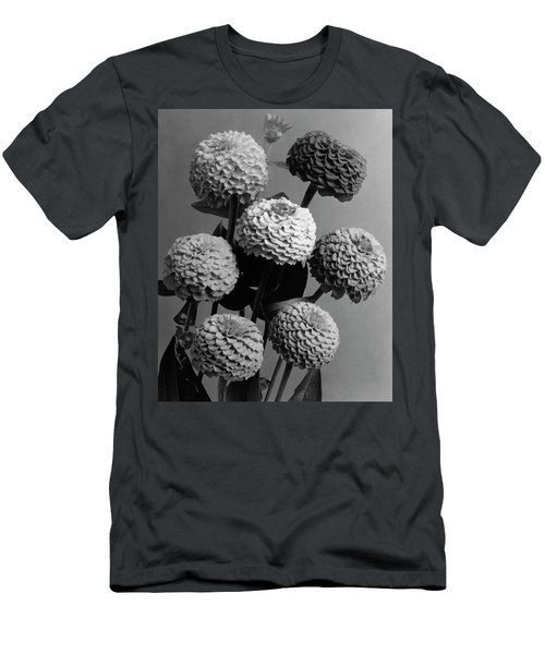Zinnia Lilliput Flowers Men's T-Shirt (Athletic Fit)