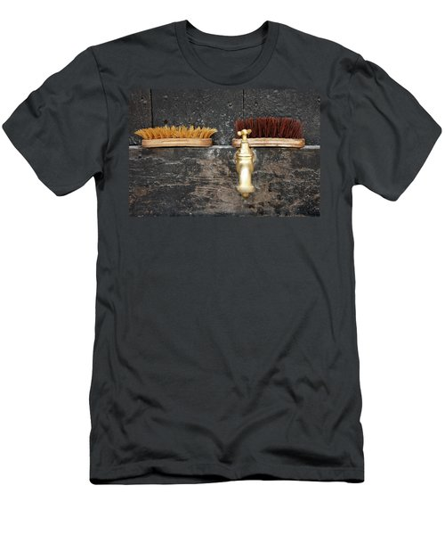 Men's T-Shirt (Slim Fit) featuring the photograph Zuiderzee Brushes by KG Thienemann