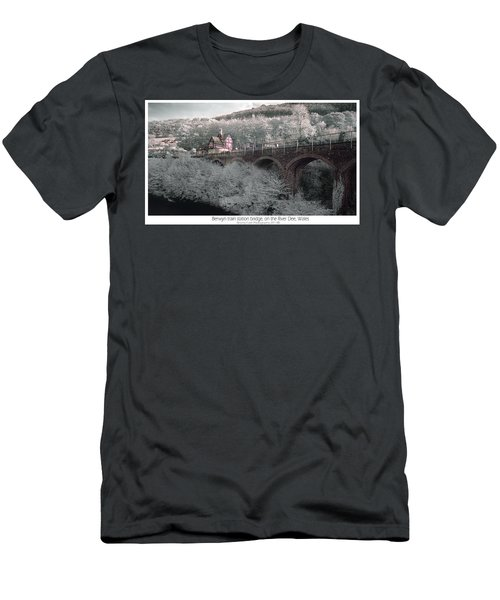 Infrared Train Station Bridge Men's T-Shirt (Athletic Fit)
