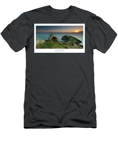 Sunset At South Stack Lighthouse Men's T-Shirt (Athletic Fit)
