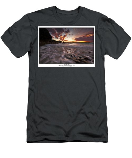 Sunset Tides - Porth Swtan Men's T-Shirt (Athletic Fit)