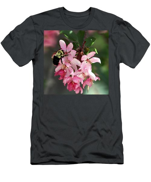 Men's T-Shirt (Slim Fit) featuring the photograph Buzzing Beauty by Elizabeth Winter